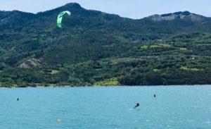 Kitesurf lac de serre-poncon
